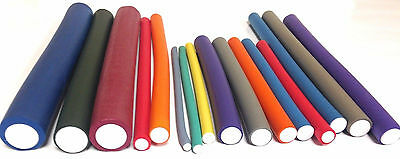 Annie Flexible Twist-flex Hair Roller Rods, Variety of Sizes and Colors