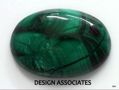 Malachite Cabochon 23.49 X 16.09 Mm Oval Cut Great Green Color  All Natural