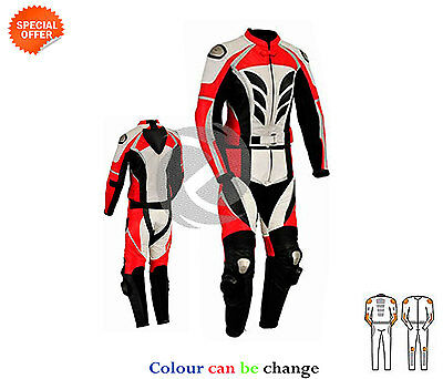 new Beautifull designed two piece motorbike leather suit suit red jacket trouser