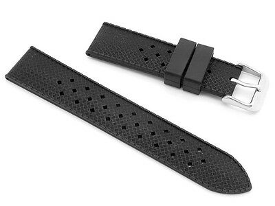 Tropic Watch Strap Retro Silicone Rubber by Newmark - Fits Rolex Omega Seiko