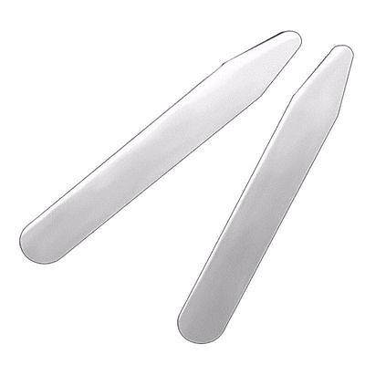 "4pcs(2 pairs) Metal Collar Stays 2.2"" Premium Stainless Steel White Shirt Dress"
