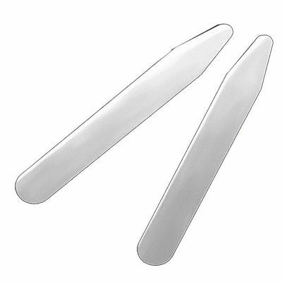 "4pcs(2 pairs) Metal Collar Stays 2.5"" Premium Stainless Steel White Shirt Dress"