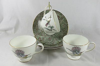 3 Humming Birds Cup and Saucers by Wedgwood