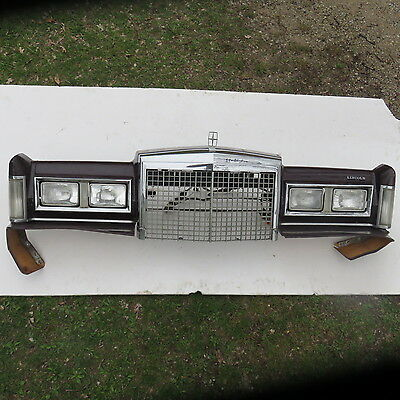 1985 86 87 88 89 Lincoln Town car Headlight Support Panel  COMPLETE w/ nos nut