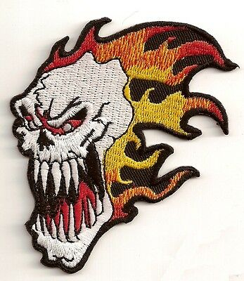 """Screaming Skull Native Indian Head Dress Large Patch 11.25/"""" x 10/"""" FAST SHIPPING"""