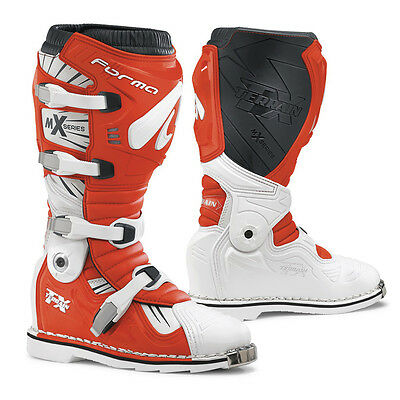 Forma Terrain TX motocross boots, pivot tech white red dirt motorcycle offroad