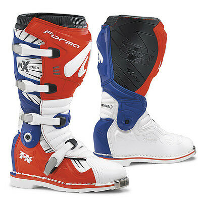 Forma Terrain TX motocross boots, mens, white, red blue motorcycle dirt bike mx