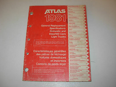 Atlas Automotive Application & Part Numbers Manual , issued 1981