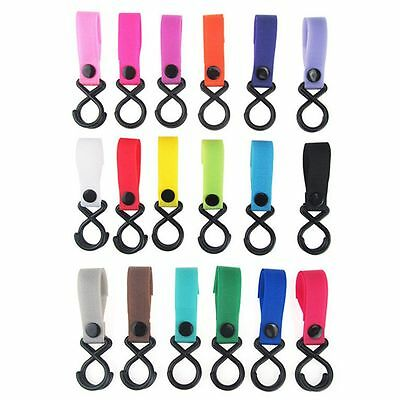 3PCS Color Random Holder Stroller Hook Baby Pushchair Hanger Plastic Clips