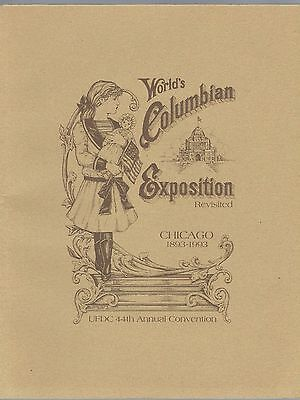 UFDC Souvenir Journal - World's Columbian Exposition Revisited 1993 Chicago