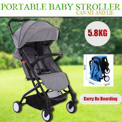 Gary Compact Lightweight Baby Stroller Pram Easy Fold Travel Pushchair Carry-on