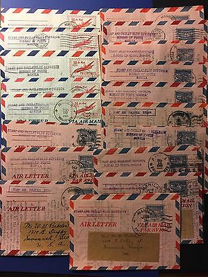 1950's Philippines To Usa Air Mail Stamps Covers Lot