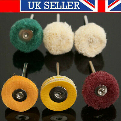 6Pcs Polishing Mop Wheel Buffing Pad Brush For   Rotary Polish Drill Bit
