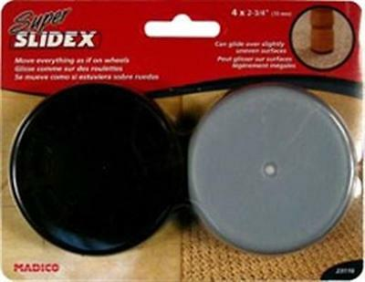 MADICO Super Slidex - Rubber Pads Gliders For Moving Furniture - Grey - 5 Packs