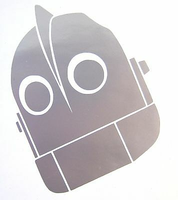 """Large Iron Giant Decal, Silver Vinyl 12"""" x 8"""""""