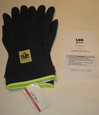 Tempshield LOX MIL-L Cryo Industrial Glove Mid arm Cryogenic Large Pair New