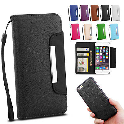 iPhone 7 Plus/6 Plus 6S Magnetic Flip Leather Wallet Case Cover For Apple