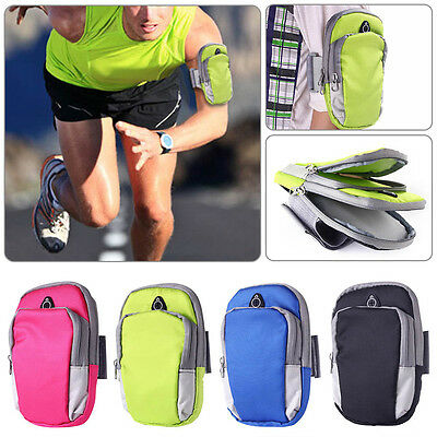 2017 OutDoors Sport Running Riding Arm band Case Cell Phone Holder Zipper Bag