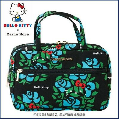 NEW! Sanrio Hello Kitty x Marie More Cosmetic pouch Rose Cute from Japan