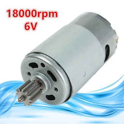 Electric Motor Gear Box DC 6V 18000RPM For Kids Ride On Bike Car Toy Parts New