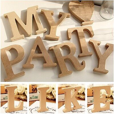 Freestanding Wood Wooden A-&-Z Letters Alphabet Decor 15MM Thick! 10CM High