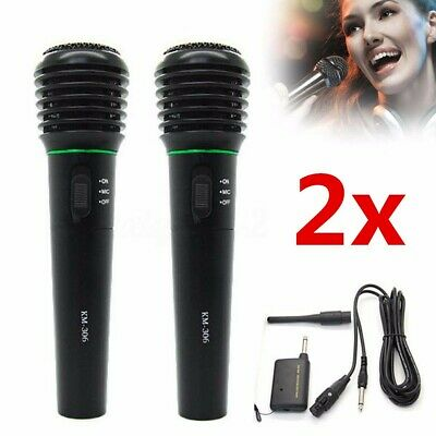 2X Professional Wired&Wireless Dynamic DJ Microphone Mic Receiver Handheld 6.3mm