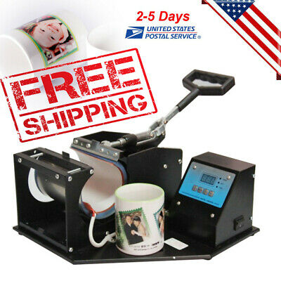 USA Dual Digital Display Heat Press Transfer Sublimation Machine For Mug Cup NEW