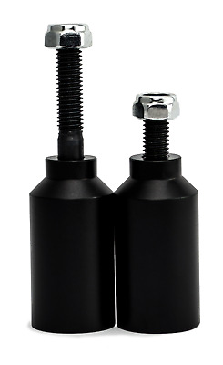 Scooter Crew Grind Pegs - Black - Pair with Axles - Suit *Most inc. Envy MGP