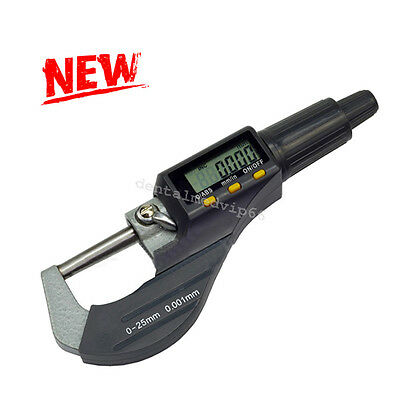 """0.00005"""" Digital Electronic Outside Micrometer Carbide Tip Large LCD Display NEW"""
