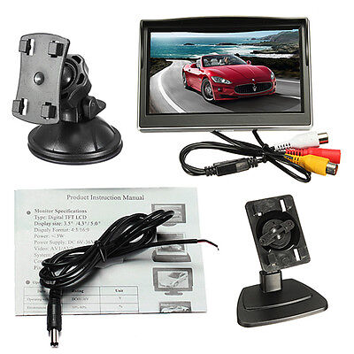 "5"" Inch TFT-LCD Car Color Rear Screen Monitor For Car Rearview Backup Camera UK"