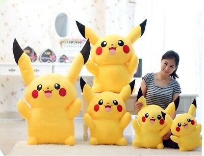 Cute Pokemon Pikachu Figure Big Plush Toy Large Soft Stuffed Doll Pillow Gifts