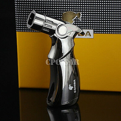 COHIBA Gas Windproof Torch Jet Flame Refillable Cigarette Cigar Lighter