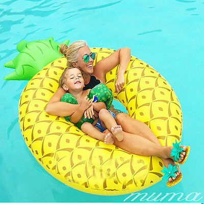 """Giant 6"""" FOOT Pineapple Inflatable Beach Lounger Swimming Pool Float Raft"""