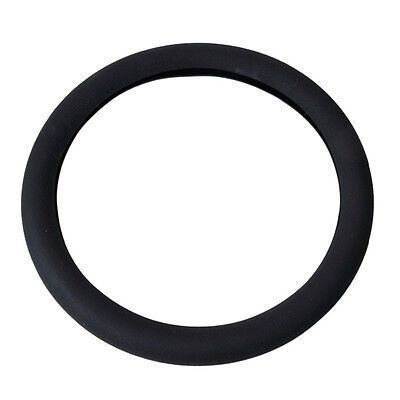 Universal Car Vehicle Silicone Steering Wheel Rim Cover Protector 36cm Black HOT