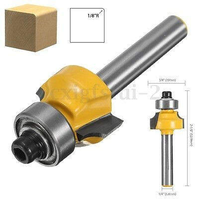 1/4'' Shank Alloy Router Bit Round Over Edging Cutter Routing Template Flush