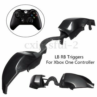 For XBOX One Controller LB RB Trigger Bumper Button Replacements - Black Keycap
