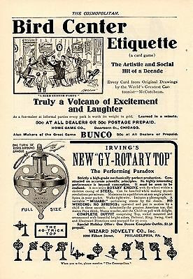 1904 Irving Gy-Rotary Toy Top Ad-The Performing Paradox