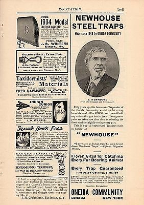 1904 Oneida Community Newhouse Steel Traps Ad-Sewell Newhouse