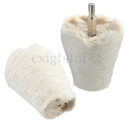 Tapered Polishing Buffing Buffer Cotton Wheel for Electric Tool Drill Shank 6mm