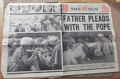 1970 The Sun~ Sydney, 'father Pleads With Pope' Front And Backpages