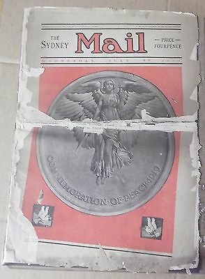 1919 The Sydney Mail ~ Full Newspaper ~ Torn Pages