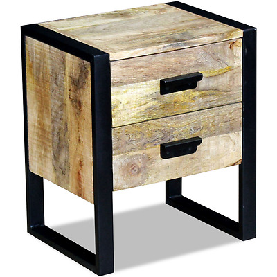 Solid Wood Bedside Table Bedroom Nightstand Bed Side Cabinet End Stand Drawers