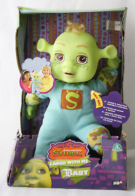 "Very Rare 2007 Shrek The Third Laugh With Me Baby Boy 13"" Laughing Doll New Mib!"
