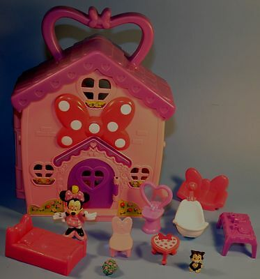 Disney Fisher Price Minnie Mouse BOW-TIQUE House Playset Figures