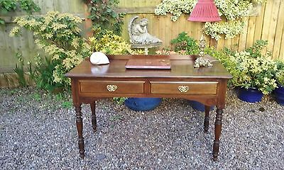 Victorian / Edwardian Mahogany Writing Table / Desk (Hall,Dressing,Drawers,Lamp)