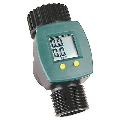 garden hose flow meter. Water Flow Meter Sensor Consumption Control LCD Display Gallon Yard Garden Hose S