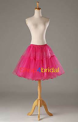 Rose Crystal Yarn Cocktail Prom Crinoline Petticoat Hoopless Slip Underskirt