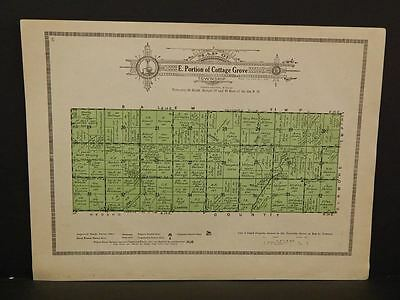 Kansas  Allen County Map East Portion of Cottage Grove Township  1921  W6#09