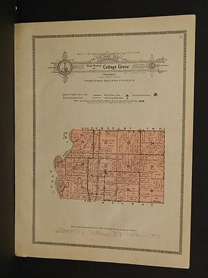 Kansas  Allen County Map West Portion Cottage Grove Township  1921  W6#11