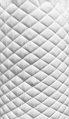 "Suede Quilted White Auto Headliner Headboard Fabric 3/8"" Foam Back fabric yard"